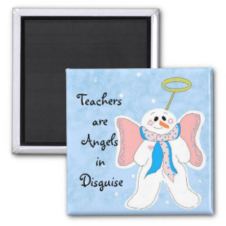 Pink Teachers are Angels Magnet