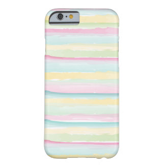Pink, Teal, Gold, Green Watercolor Stripes iPhone 6 Case