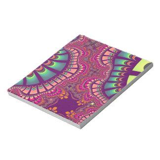 Pink Teal Rainbow Remix Notepad
