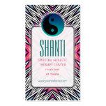 Pink Teal Shanti YinYang NewAge Yoga Business Card