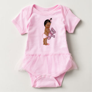Pink Teddy Bear Baby Girl T-shirts