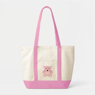 Pink Teddy Bear Canvas Bag
