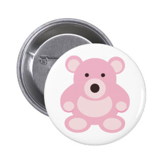 Pink Teddy Bear Button