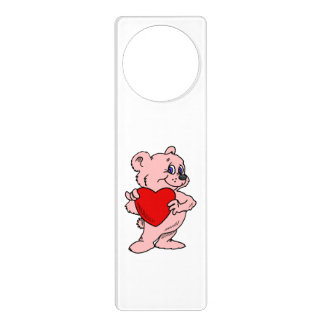 Pink Teddy Bear Door Knob Hangers