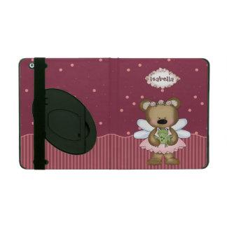 Pink Teddy Bear Fairy Princess iPad Folio Case