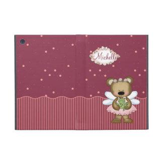 Pink Teddy Bear Fairy Princess iPad Mini Covers