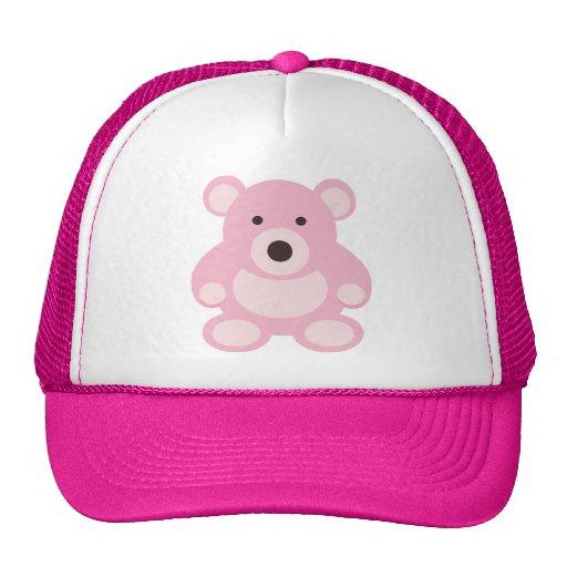 Pink Teddy Bear Mesh Hats