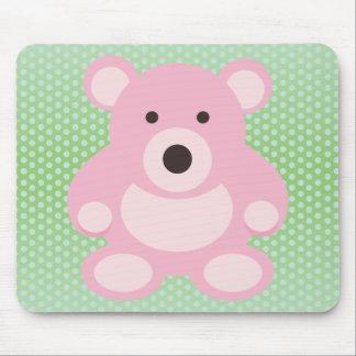 Pink Teddy Bear Mousepad
