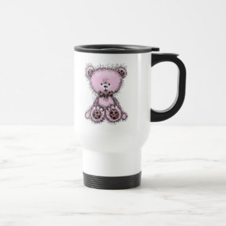 Pink teddy bear coffee mugs