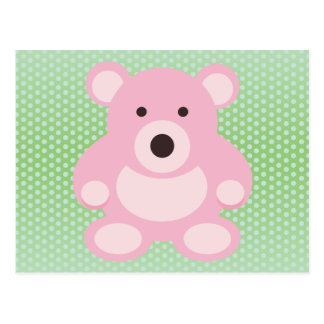 Pink Teddy Bear Postcard