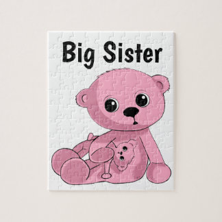Pink Teddy Bear Puzzle Personalize