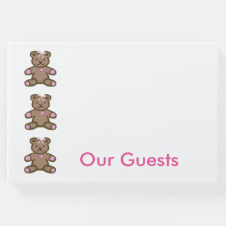 Pink teddy bears border