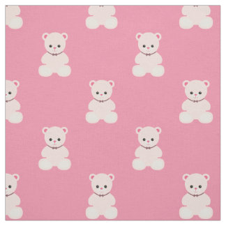 Pink Teddy Bears Fabric