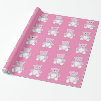 Pink Teddy wrapping paper
