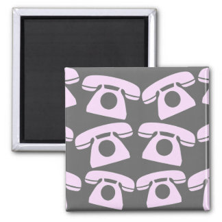 Pink Telephones Fridge Magnet