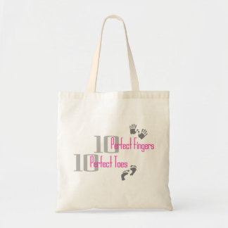 Pink Ten Perfect Fingers & Toes Bag