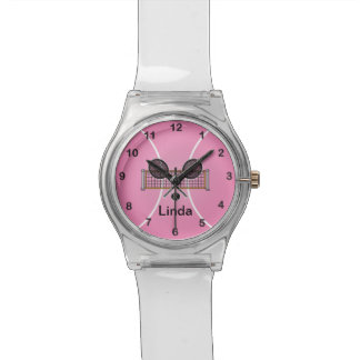 Pink Tennis | DIY Name Wrist Watches