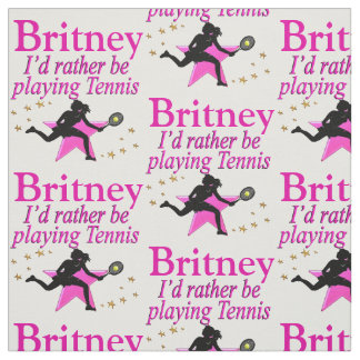 PINK TENNIS GIRL PERSONALIZED FABRIC