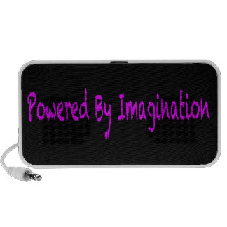 Pink Text-Power By Imagination Mp3 Speakers