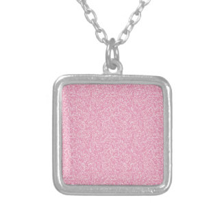 Pink texture silver plated necklace