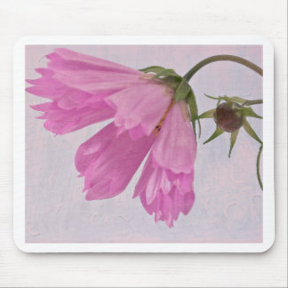 Pink Textured Cosmo Flower Mousepads