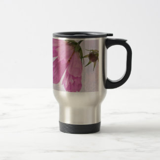 Pink Textured Cosmo Flower Coffee Mugs