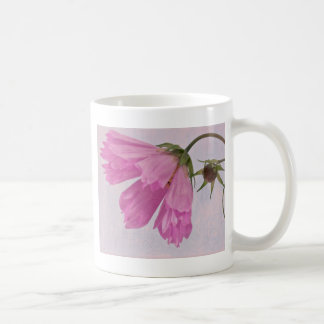 Pink Textured Cosmo Flower Mug