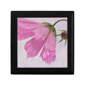 Pink Textured Cosmo Flower Small Square Gift Box