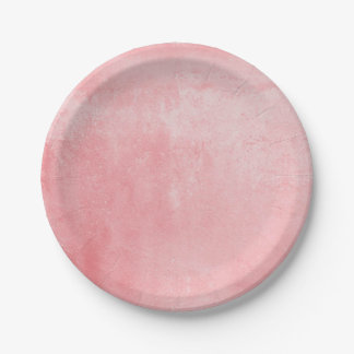 Pink Textured Paper Plate