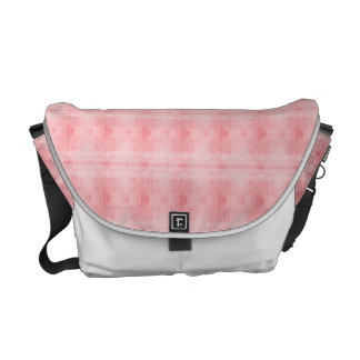 Pink Textured Pattern Messenger Bags