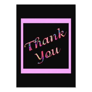 pink Thank You 13 Cm X 18 Cm Invitation Card