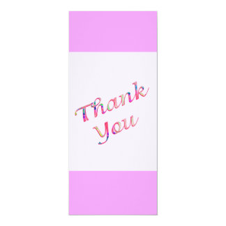 pink Thank You Custom Announcement