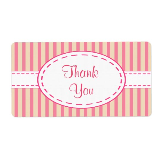 Pink Thank You Labels