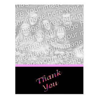 pink Thank You Postcard
