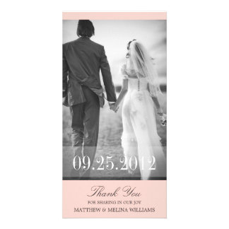PINK  THANK YOU | WEDDING THANK YOU CARD CUSTOM PHOTO CARD