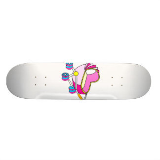 Pink theme baby carriage graphic 20 cm skateboard deck