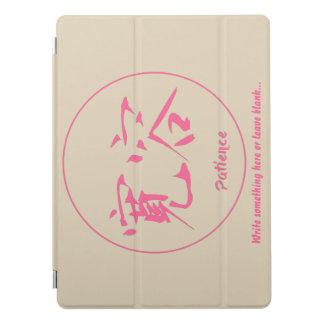 Pink thin round circle • Patience kanji iPad Pro Cover