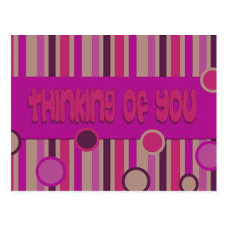 pink thinking of you post cards