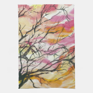 Pink Through The Trees Designer Kitchen Towels