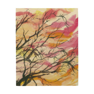 Pink Through The Trees,  Wood Wall Art