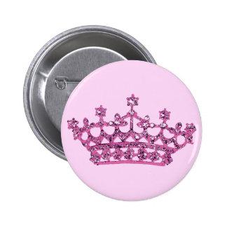 Pink Tiara 6 Cm Round Badge