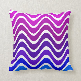 pink to blue zigzag cushion