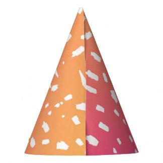Pink to Orange Gradient Party Hat