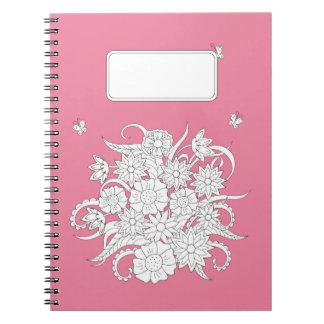 pink to summer bouquet notebook