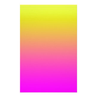 Pink to Yellow Gradient Gradation Sunset Beach Sun Stationery