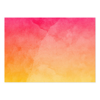 Pink to Yellow Watercolor Business Cards
