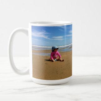 Pink toddler on Beach Mug