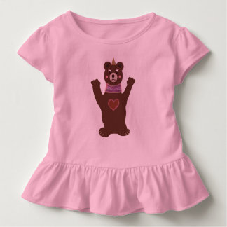 Pink Toddler Ruffle Tee with Bear