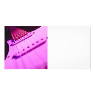 Pink Tone Electric Guitar Close-Up 2 Photo Cards
