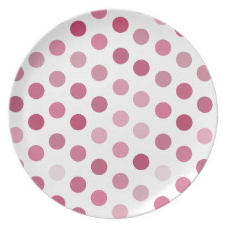 Pink Tone Polka Dots Party Plate